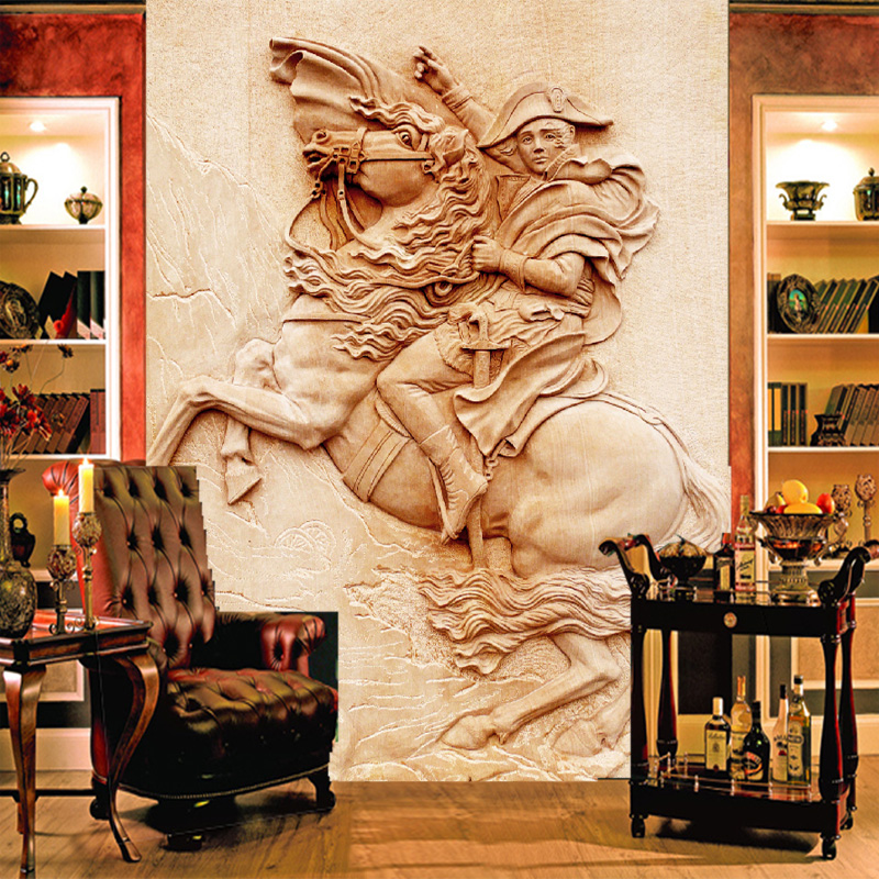 Custom 3D photo wallpaper classical Napoleon entrance hallway mural 3d wallpaper european home decoration wall papers free shipping 3d stereo entrance hallway custom wallpaper vertical version european oil painting wallpaper mural