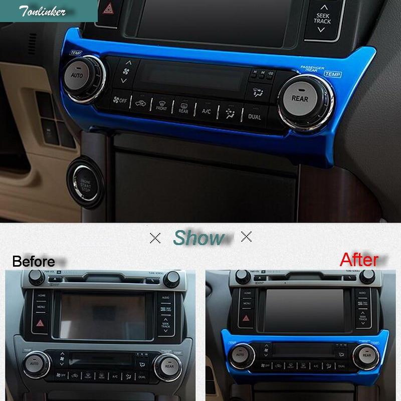 1pcs Stainless Inner Glove Box Handle Frame Trim For Toyota Highlander 2015-2018