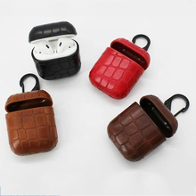 PU Leather Bluetooth Wireless Earphone Case For AirPods Protective Cover Skin Accessories for Apple Airpods Charging Box Cases