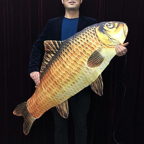 2019 新 FISM マジックジャンボ魚登場魚 (130 センチメートル) マジシャンのためのトリックステージ幻想ギミック魚から表示され空気おかしい  グループ上の おもちゃ & ホビー からの 手品 の中 1