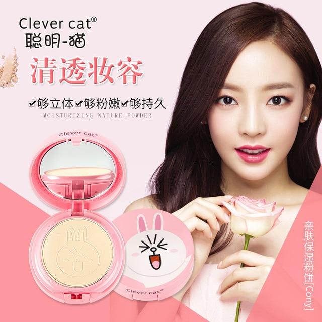 Cartoon Face Base Pressed Powder Matte Concealer Contour Palette Whitening Oil Control Foundation Powder 1