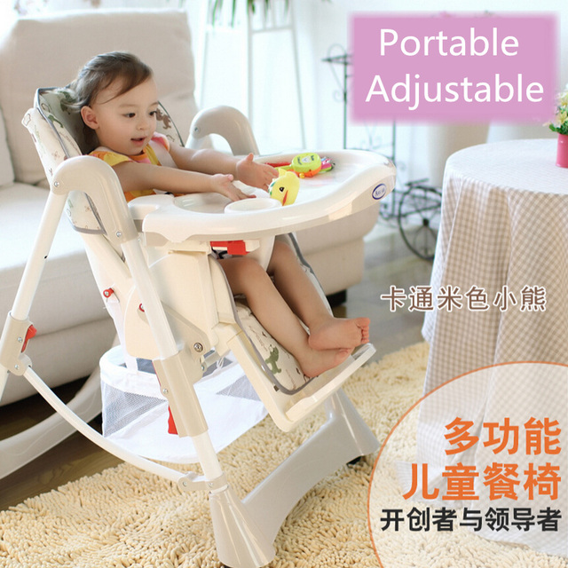 portable high chair booster chairs for outdoor wedding baby seat kid infant dining lunch feeding plastic folding seggiolone portatile