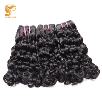 AOSUN HAIR Afro Fumi Loose Double drawn Bouncy Curly 3pcs Natural Color 10 20inch Brazilian Hair Weave Bundles Remy Human Hair