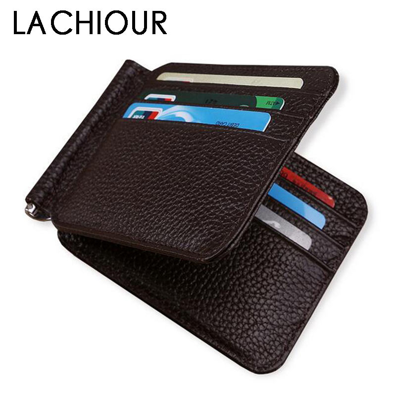 12 Card Slots Men Money Clips Fashion Boy Genuine Leather Money Clamp Male Magic Money Clip Wallet with ID Card Case