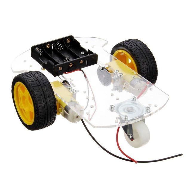 Kit de Chasis de coche Robot inteligente de Motor transparente caja de batería de codificador de velocidad para bricolaje