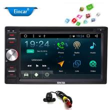 2Din Android 6.0 Car PC GPS Navigation Stereo Car DVD Player with AM FM Car pc Autoradio WiFi Bluetooth supports TV OBD2+Camera
