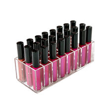 new Acrylic 24 grid organizer makeup tools Holder Cosmetic storage box Lipstick Display Rack Accessor Jewelry Storage case(China)