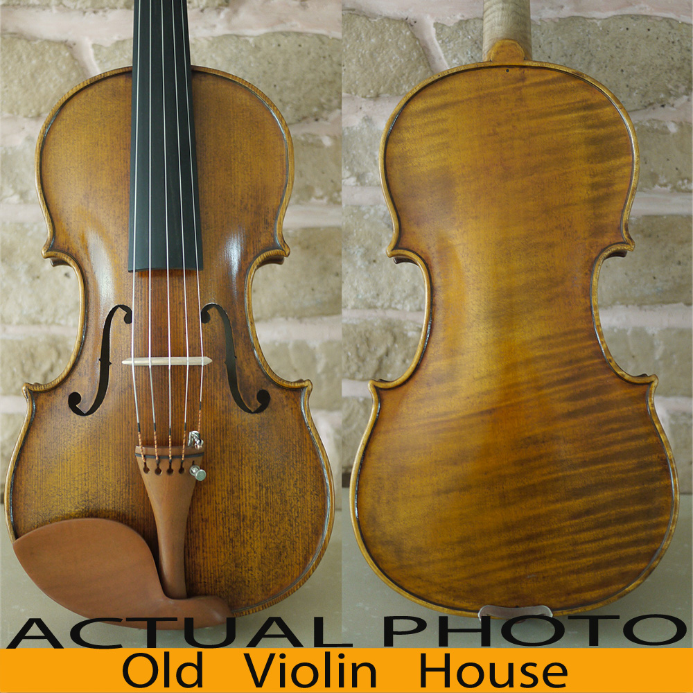 A Revolutionary 5 Strings Violin Warm Tone Concerto Level Antique oil varnishing No5886