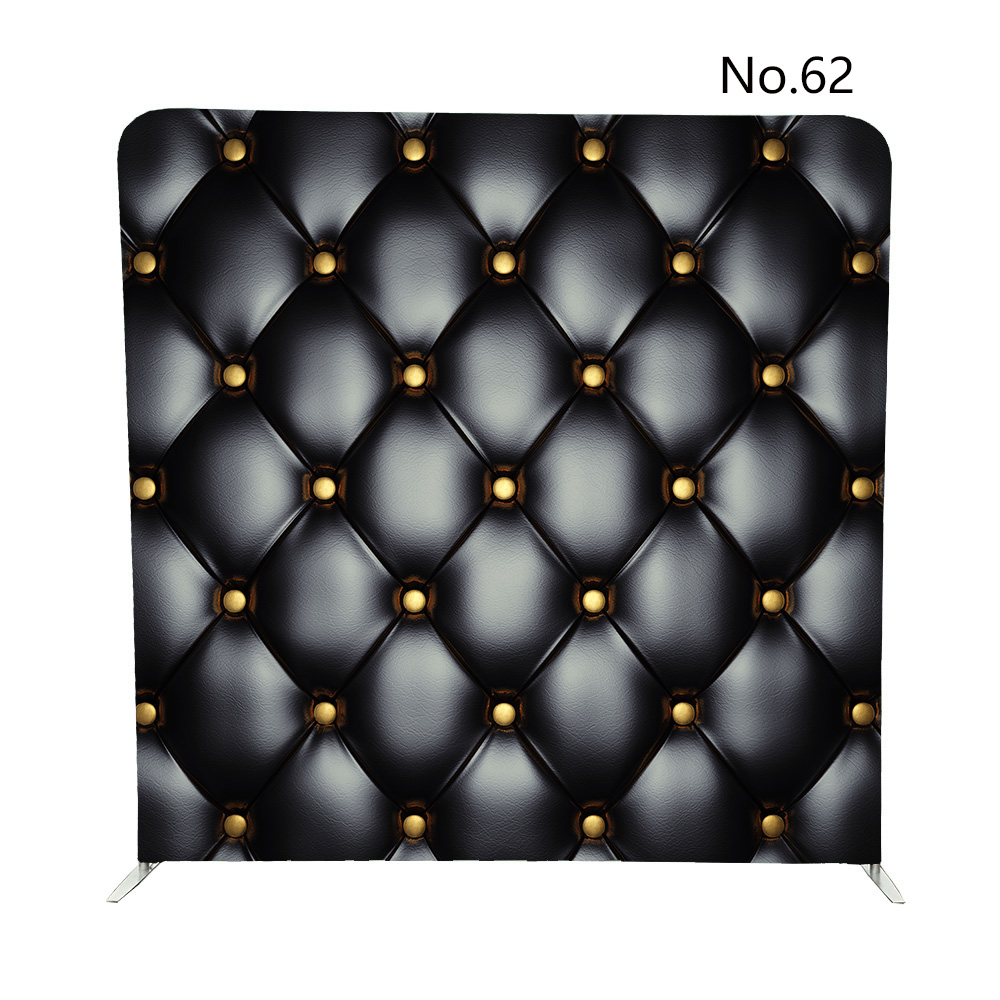 8ft black and white sofa double sided print pillowcase background for event