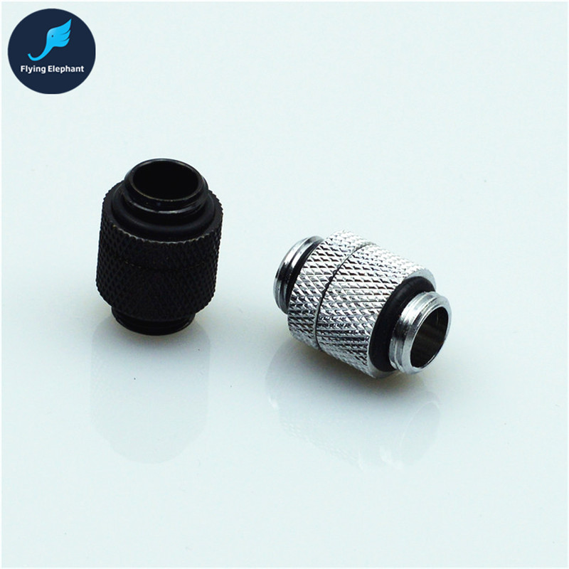 360 Degree Rotatable Dual G1/4 Fitting Adapter Connector Brass Chrome Plated For PC Water Cooling 2 Colors