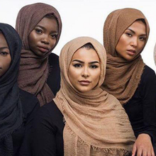 New women Scarf High Quality Shawls And Scarves Linen Cotton Warm Solid Color Free Shipping crinkle hijab