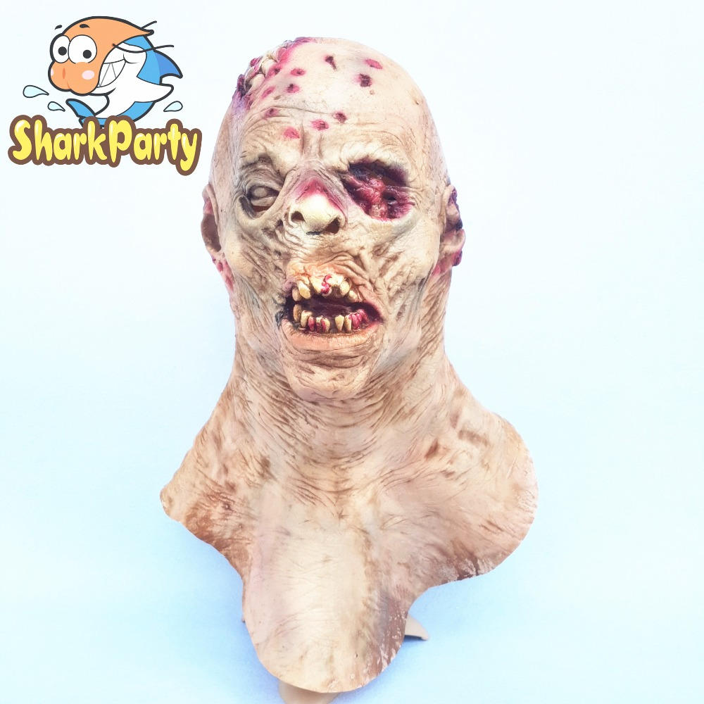nausea zombie horror rotten face rotting zombie christmas halloween party props masks upscale ghost horror scary - Zombie Props