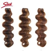Sleek Human Hair Bundles Brazilian Body Wave 113g Remy Hair Extension Pre Colored P4/27 P1B/30 P4/30 Brown Hair Extensions 1pcs