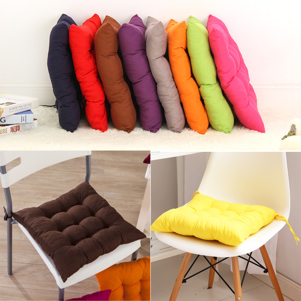 Home Office Decor Comfortable Cotton Seat Cushion Winter