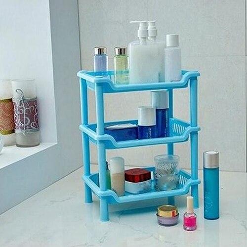 3 Layer Contracted Bathroom Kitchen Corner Shelf Cabinet Organizer Storage Rack