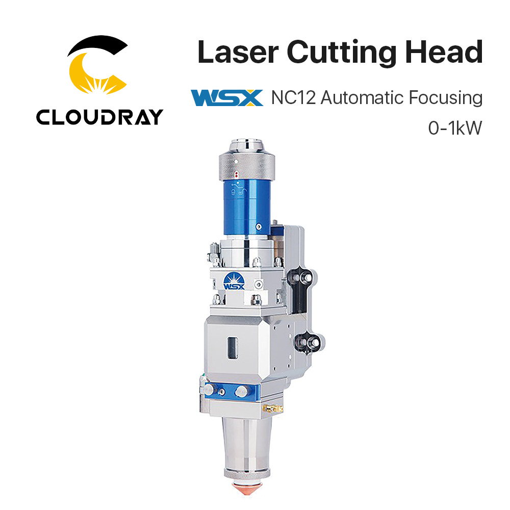 Cloudray WSX 0-1KW Fiber Laser Cutting Head NC12 Automatic Focusing 1000W For Metal Cutting