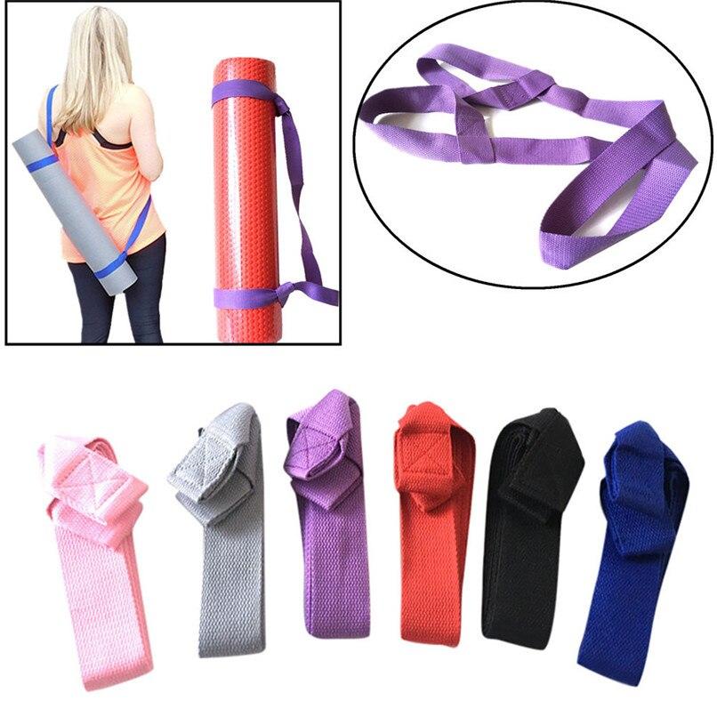Yoga Mat Harness Strap Sling Shoulder Carry Strap Belt Yoga Column Strap Band Adjustable 160*3.7cm #2o08