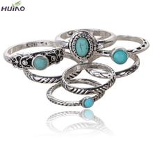 Антикварное кольцо 7pcs/set Black White Turquoise
