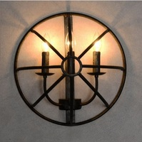 3 светильники кантри стиль лофт Фуко спираль бра, инструмент специальности, для ресторана прихожей балкон, лампа в комплекте