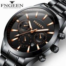 FNGEEN Business Sports Watch Men Quartz Wristwatch Band Male Clock Wrist Shockpr