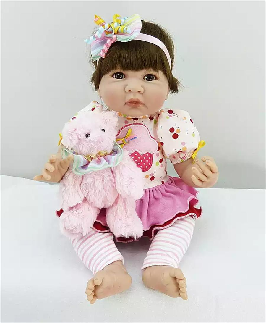Pursue 20/50cm Princess American Girl Doll Reborn Baby Toy Likelife Cotton Body Silicone Limbs Baby Doll Nursery Set Collection pursue 18 new design lifelike american girl baby doll naked plastic american baby girl princess doll toy gift for children girl