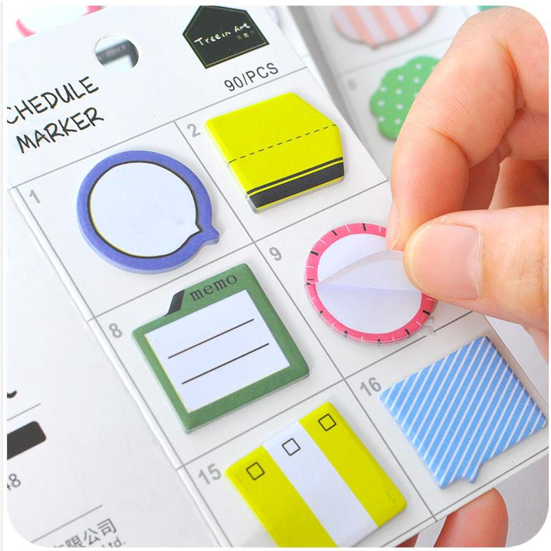 Creative Cute Kawaii Paper Sticky Memo Pad Lovely Mini Post It Sticker Notes For Kids Gift Bookmark Korean Stationery 01906