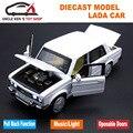 1:32 Масштаб Модели LADA Автомобиля, 14 см Длина Мальчиков Автомобиля Металла, дети Сплав Toys With Pull Back Function/Свет/Звук