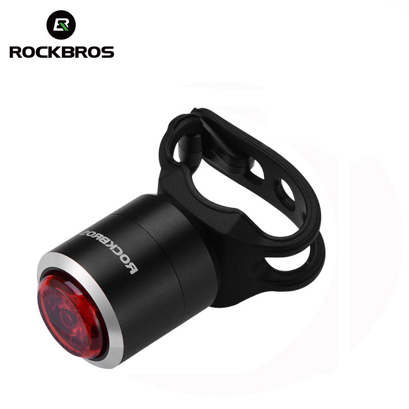 ROCKBROS Waterproof Smart Bike Bicycle Light USB Rechargeable IPX5 Taillight Mini LED MTB Road Cycling Rear Lights 5 Lumens rockbros titanium ti pedal spindle axle quick release for brompton folding bike bicycle bike parts