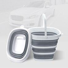 Floding bucket 10L Heart-shaped folding bucket , Fishing Promotion Car Wash Outdoor bucket free shipping Z018