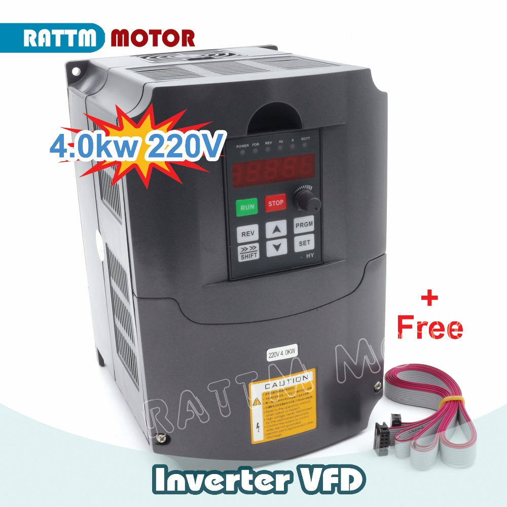 Eu usa delivery 4kw 220v variable frequency vfd inverter for Vfd for 7 5 hp motor
