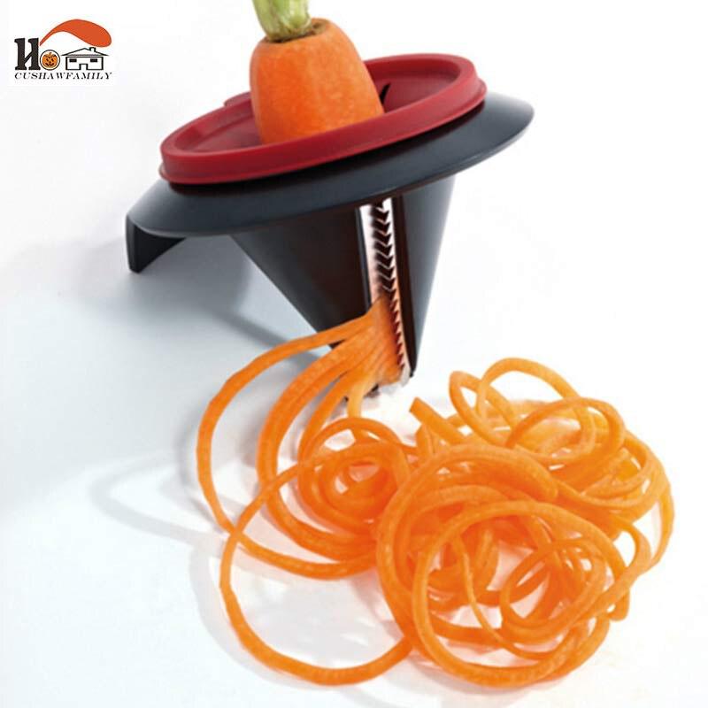 Modelo Espiral Máquina de Cortar Vegetal Dispositivo cut Shred Embudo CUSHAWFAMI