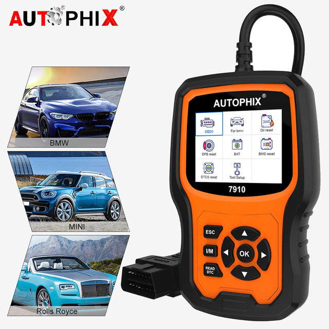 Autophix 7910 OBD2 Scanner Diagnostic Auto Full System ABS/Airbag/SAS/EPB reset For BMW/Mini/Rolls Royce Automotive Scanner