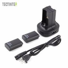 Für Xbox 360 Controller Batterie Dual Ladegerät Basis Ladestation Dock 2 stücke Akku 4800mAh Gamepad Batterie