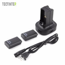 For Xbox 360 Controller Battery Dual Charger Base Charging Station Dock 2pcs Rechargeable Battery 4800mAh Gamepad Battery