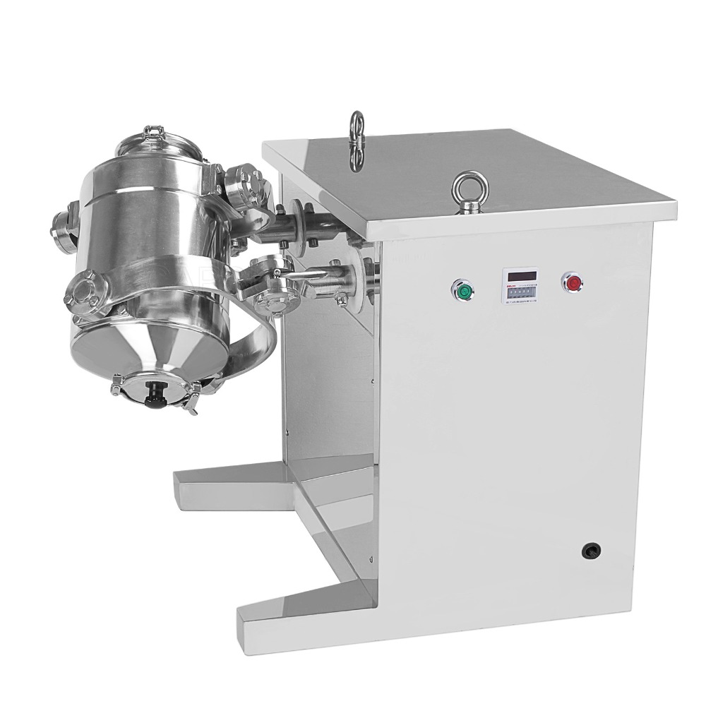 SH-10 pulverblandare med tredimensionell gunga, 3D-pulverblandningsmaskin (220V 50 HZ)