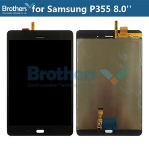 10 sztuk dla Samsung GALAXY Tab A 8.0 P350 P355 wyświetlacz LCD z ekranem dotykowym Digitizer ekran LCD P355 Panel LCD montaż testowane