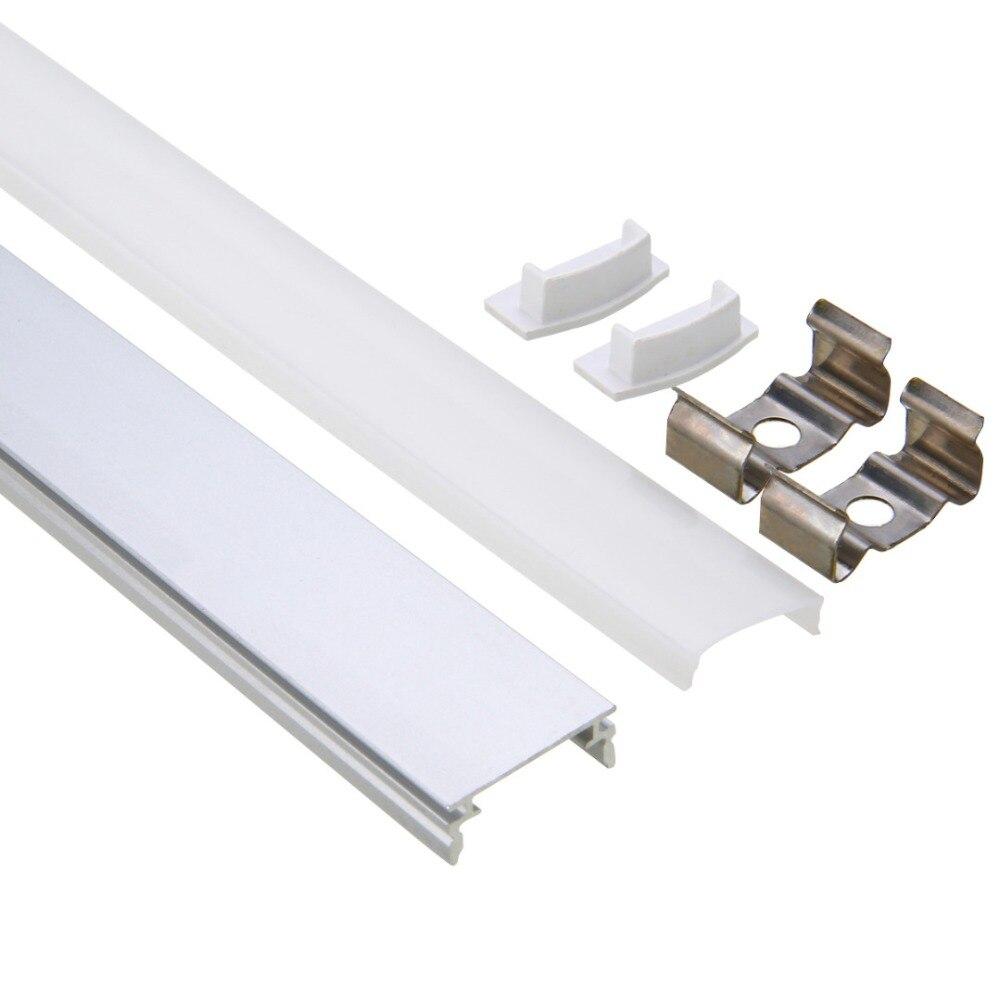 30/50cm U/V/YW-Style LED Bar Lights Aluminum Channel Holder Milk Cover End Up Lighting Accessory For LED Strip Light MAYITR
