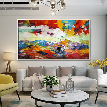 Acrylic painting abstract flower painting on canvas Wall Art Pictures for living room Home Decor quadros caudros decoracion004