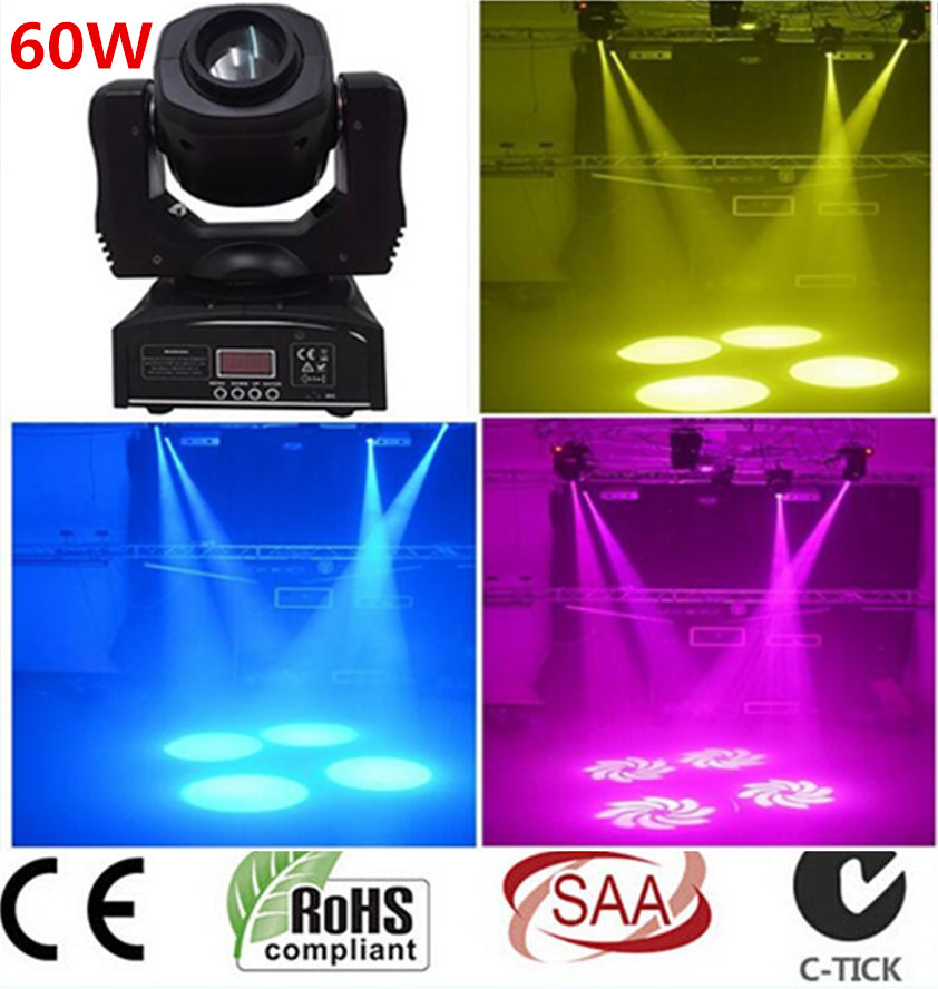 2X 60W LED Spot Moving Head Light/USA Luminums LED DJ Spot Light 60W gobo moving heads lights super bright LED DJ Spot Light 10pcs 60w led spot moving head light usa luminums led lamp light 60w gobo led moving head lights super bright led dj disco light