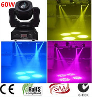 2X 60W LED Spot Moving Head Light USA Luminums LED DJ Spot Light 60W Gobo Moving