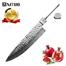 XITUO NEW 8 Inch Damascus Kitchen Knife Blanks DIY 67 Layer Japan VG10 Steel Chef Forged Handmade Material tools