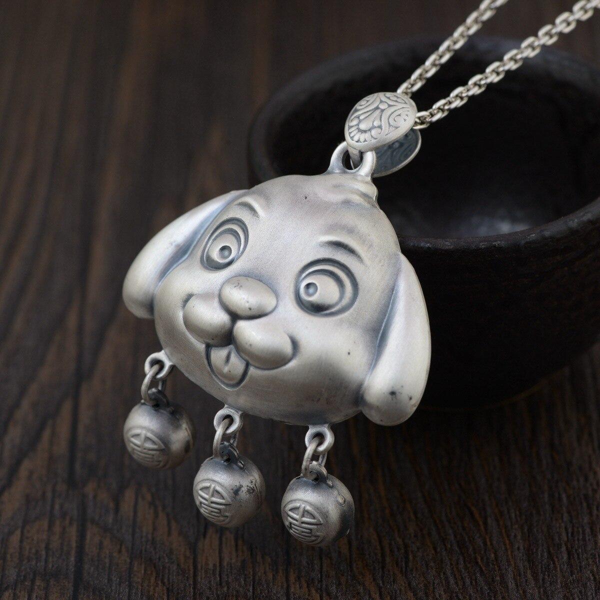 990 silver pendant zodiac dog Fine silver jewelry wholesale Benmingnian accessories products990 silver pendant zodiac dog Fine silver jewelry wholesale Benmingnian accessories products