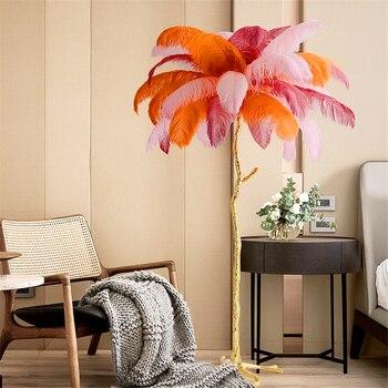 Einfache Moderne Straußen Feder Wohnzimmer LED Lampen ...