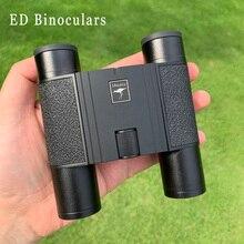 Potente Shuntu 10X25 ED Impermeabile Binocolo SMC Rivestimento Bak4 Prisma Ottica Pieghevole Telescopio per Caccia di Campeggio turismo