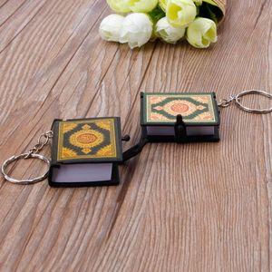 Image 5 - Mini arche livre coran vrai papier peut lire arabe le coran porte clés bijoux musulmans