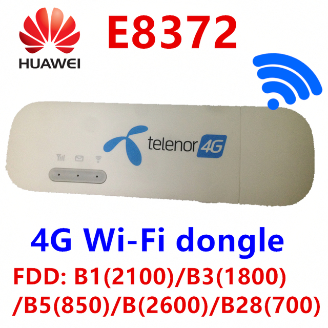 US $37 7 35% OFF|Unlocked Huawei E8372 E8372h 608 change IMEI 150Mbps 4G  WiFi Dongle LTE Universal USB Modem firmware 21 180 07 00 00 -in 3G Modems