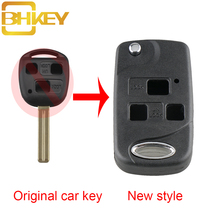 BHKEY 3Buttons Remote Key Shell Case For Lexus RX300 SC430 GX470 LS400 GS300 ES330 LX470