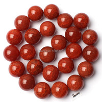 Envío libre AAA 16mm agrietada natural rojo ágata forma redonda suelta Cuentas Strand 15