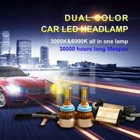 Car Headlight H4 LED H7 LED Bulb 3000K 6000K H1 H3 H8 H11 9005 HB3 9006