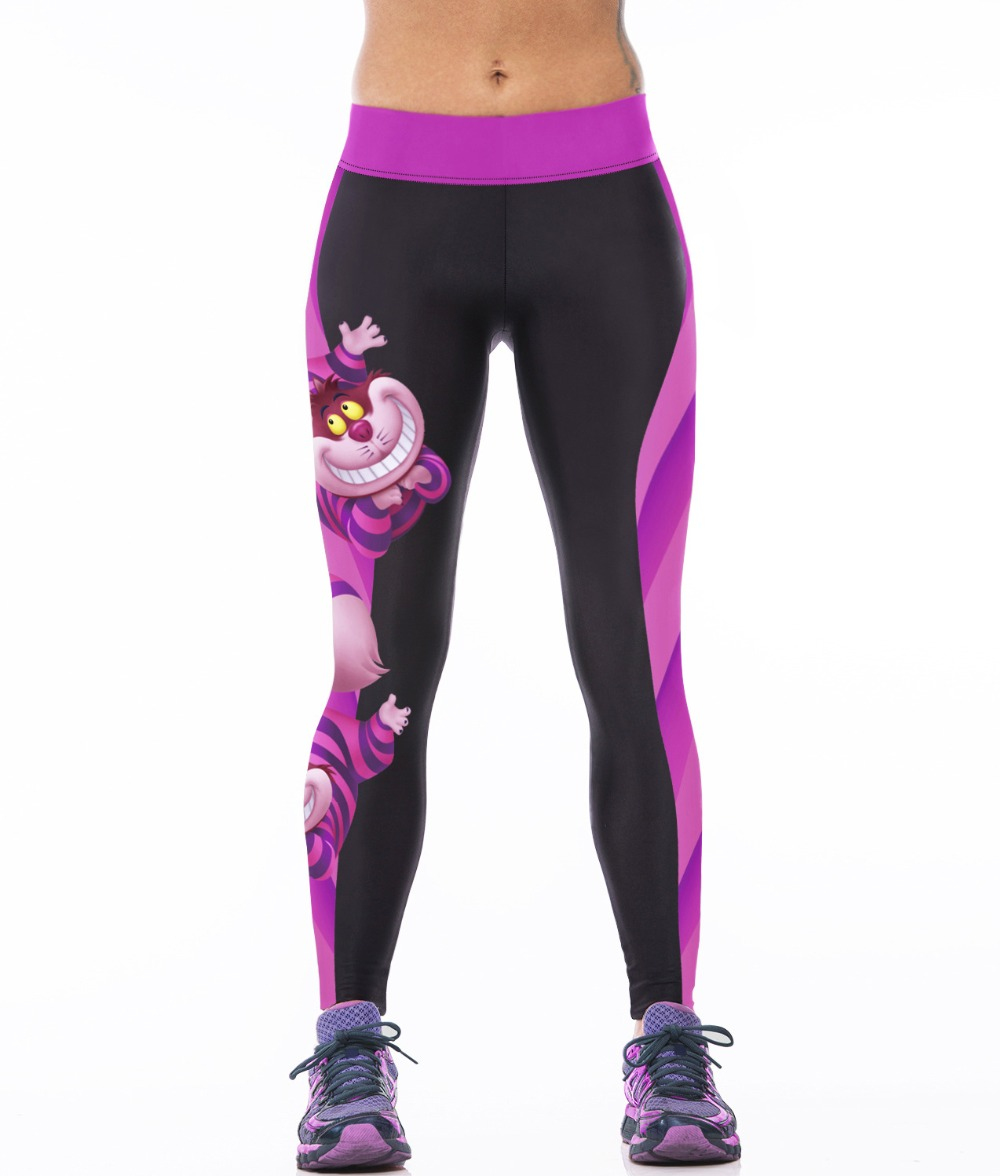 Sports-Pants Purple Owl-Printed Running-Tights Women LOVE SPARK 3-Patterns Pharaoh Vintage